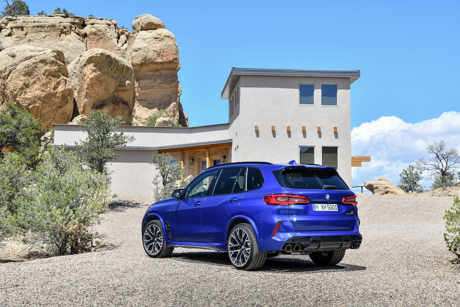 2020 BMW X5 M rear