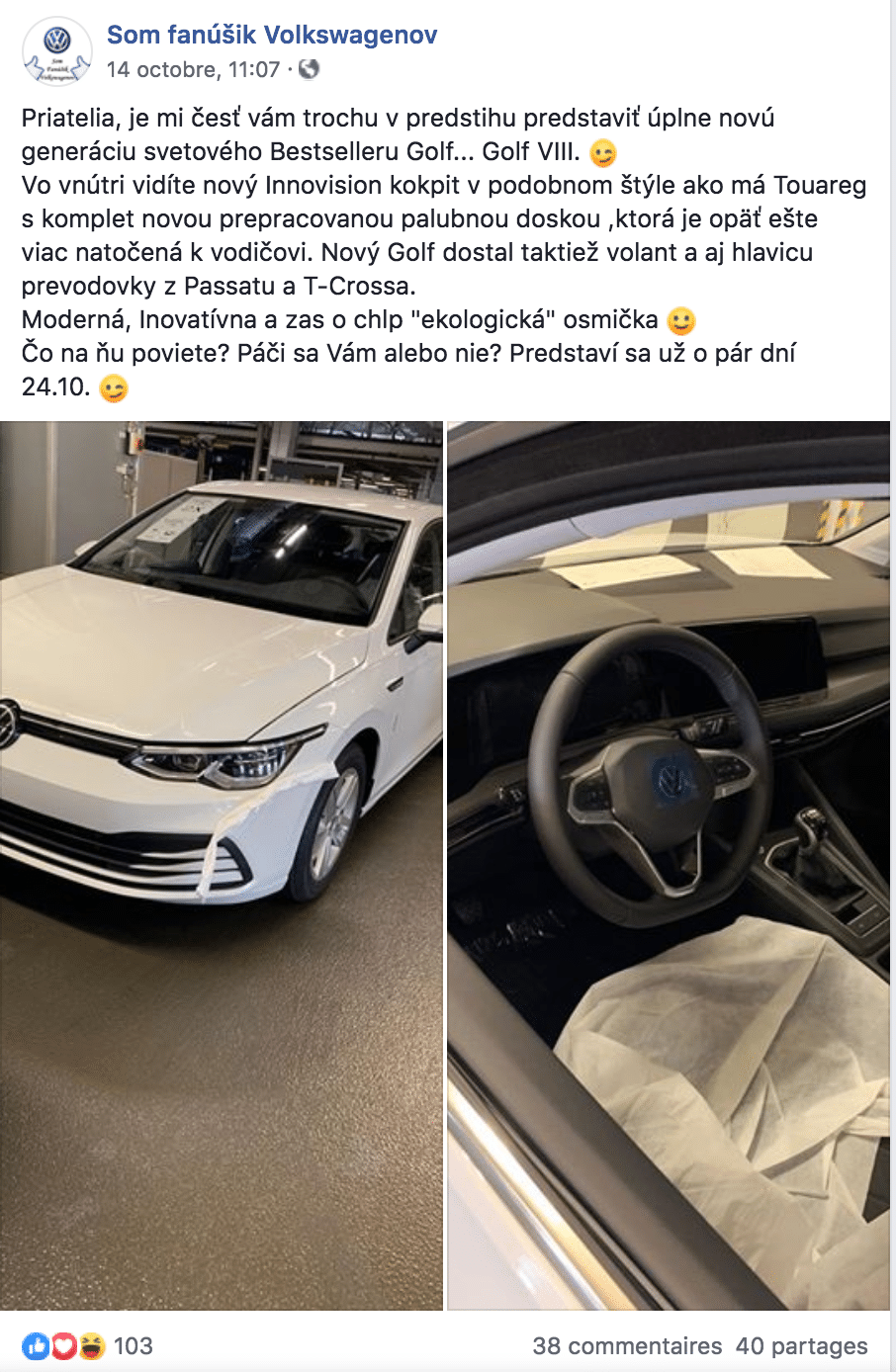 Volkswagen Golf 8 leak