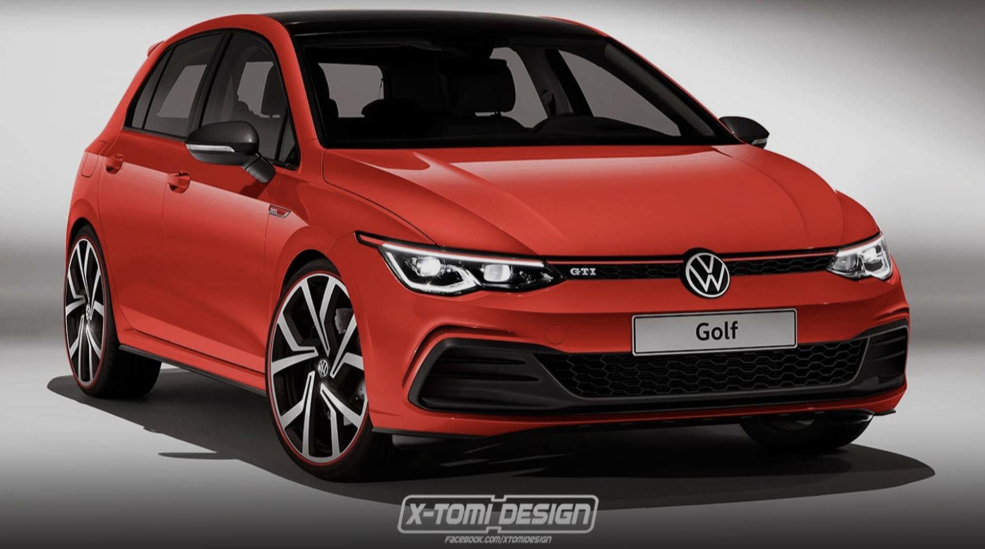 Volkswagen Golf GTI rendering