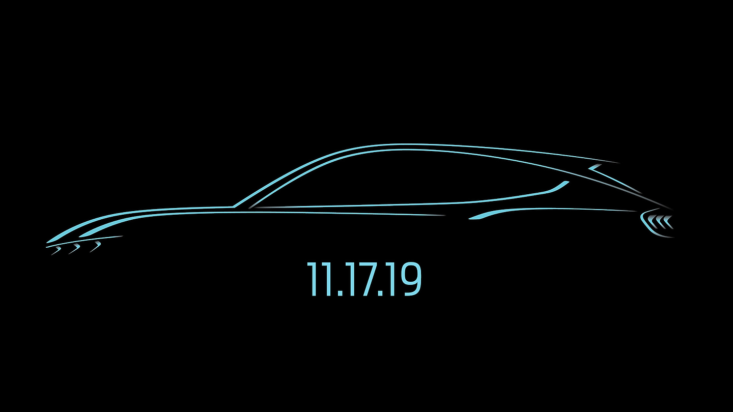 Ford Mustang-Inspired electric SUV teaser