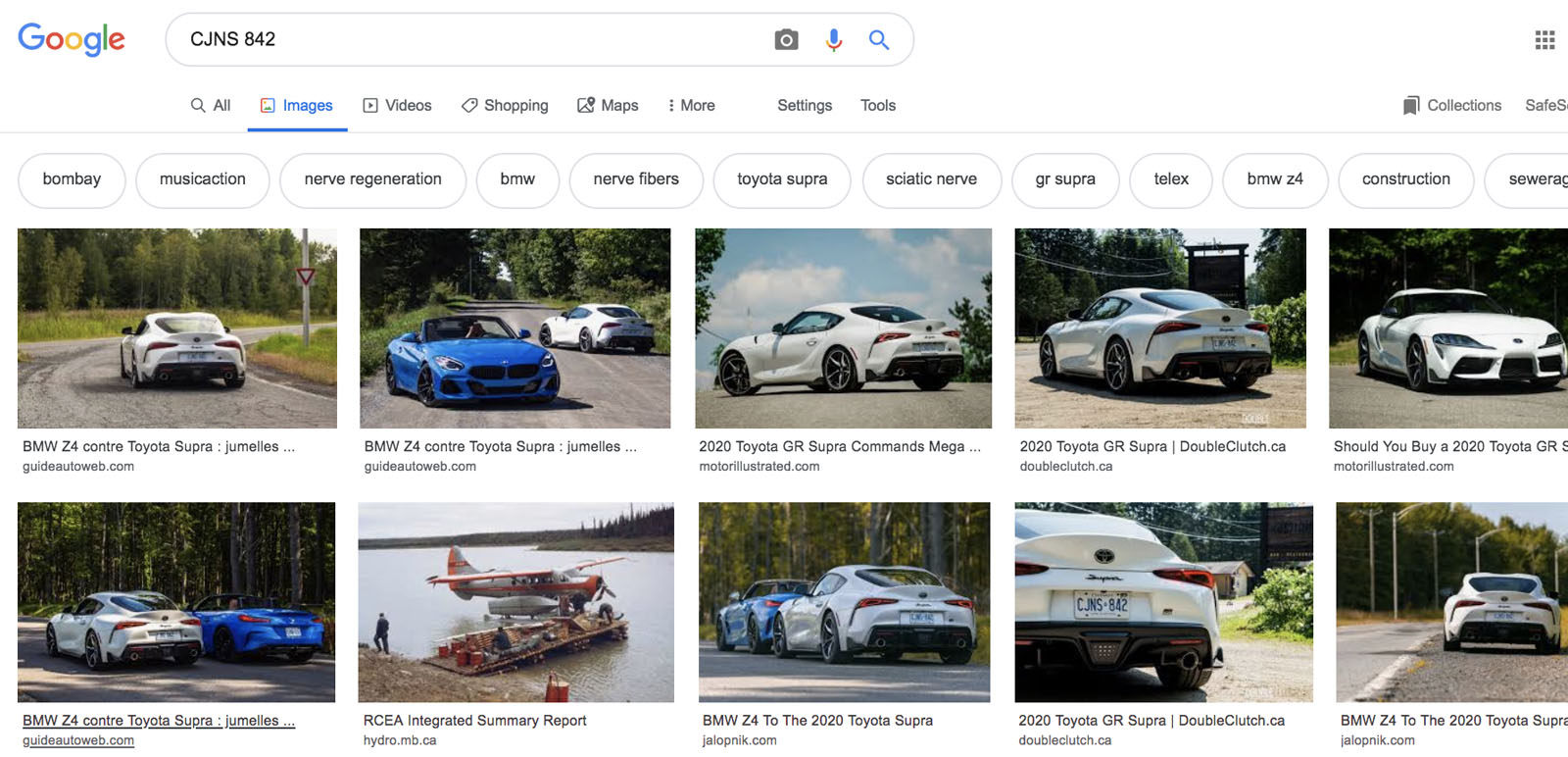 Google and Facebook license plate search 1