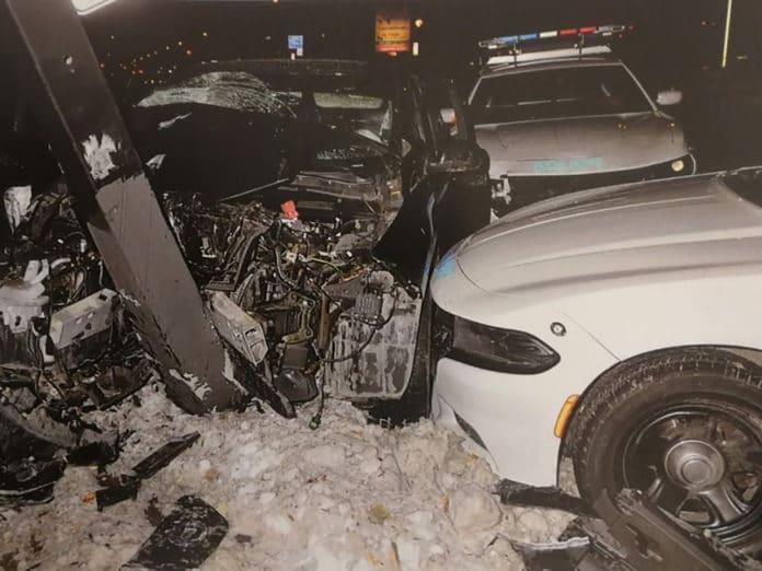 Nissan LEAF police chase