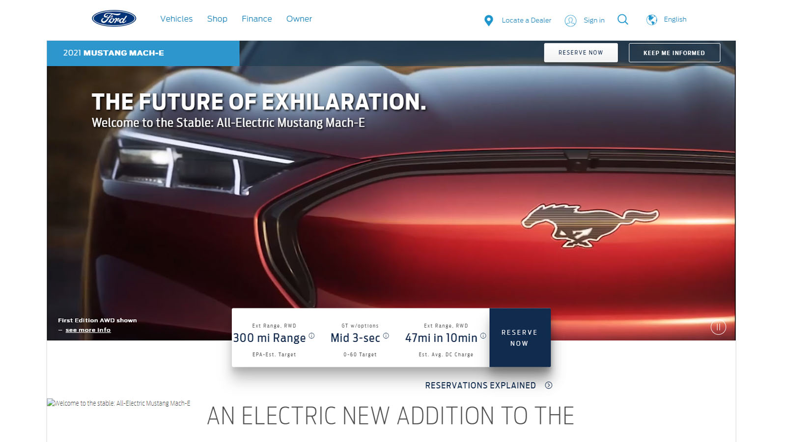 Ford Mach E Pricing and Image Leak
