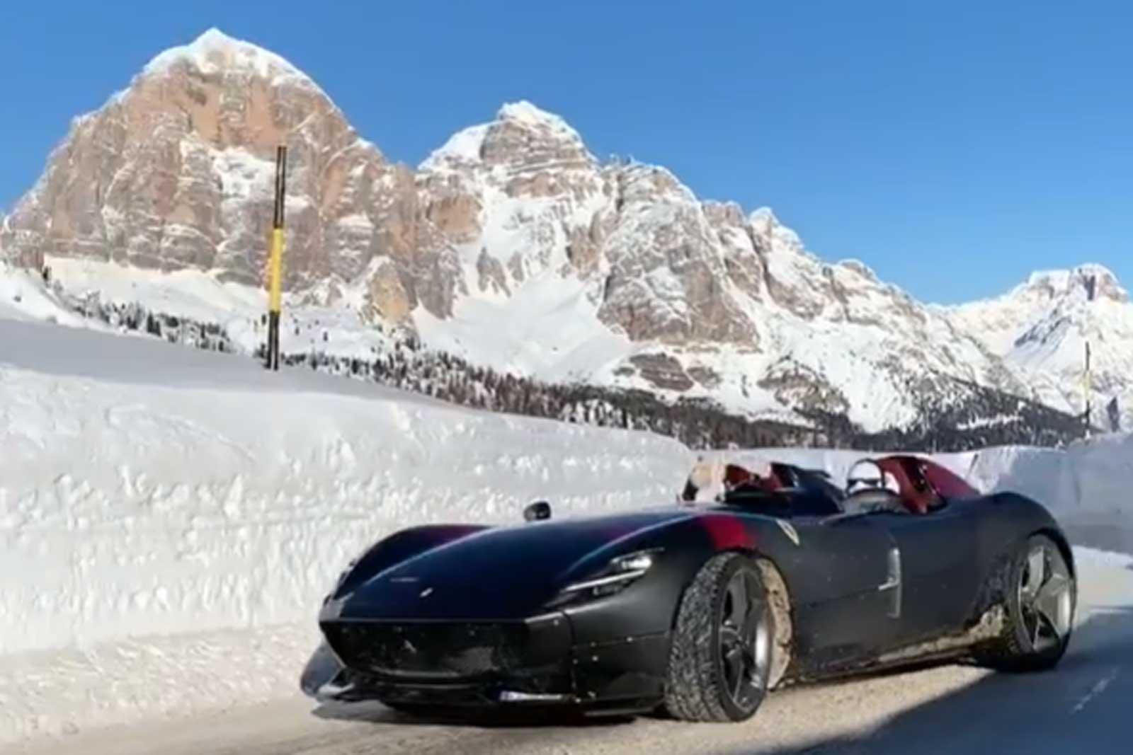 Ferrari Monza SP2 in the Snow