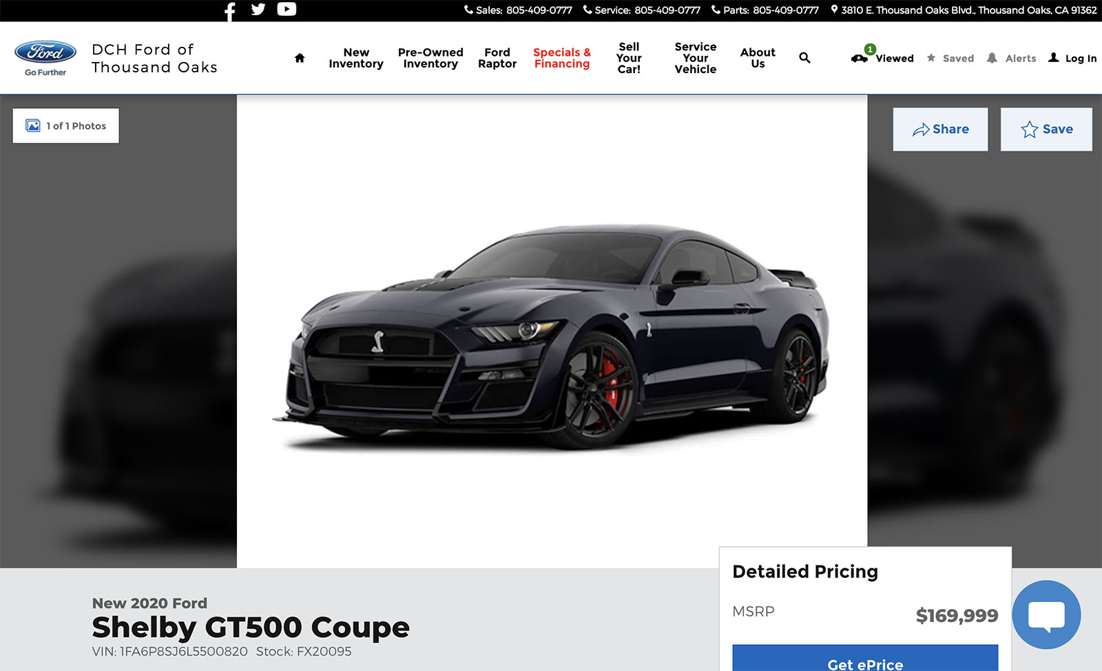 Dch Ford Of Thousand Oaks >> California Dealer Adds 100k Markup To 2020 Ford Mustang