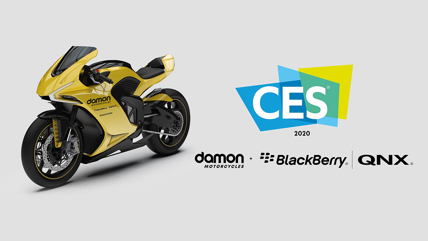 Damon Motorcycles with Blackberry QNX at CES 2020