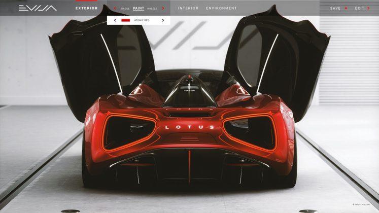 Lotus Evija Configurator