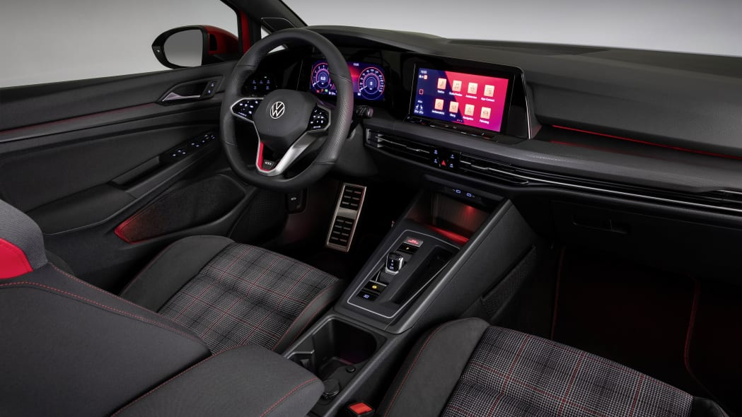2022 VW GTI MK8 Plaid seats