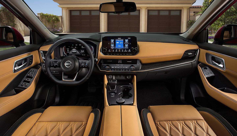 2021 Nissan Rogue beige interior