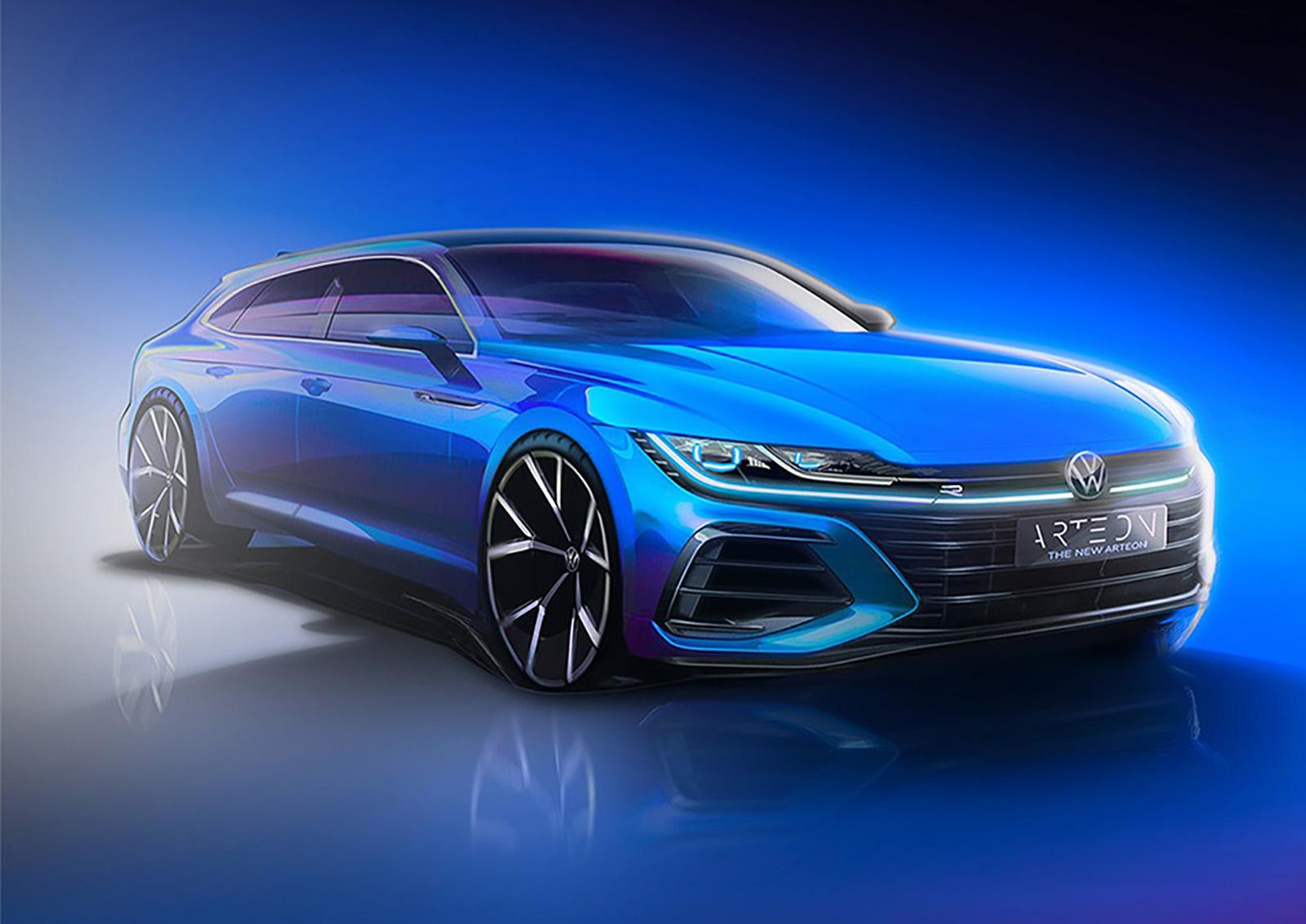2021 Volkswagen Arteon Shooting Brake Teaser