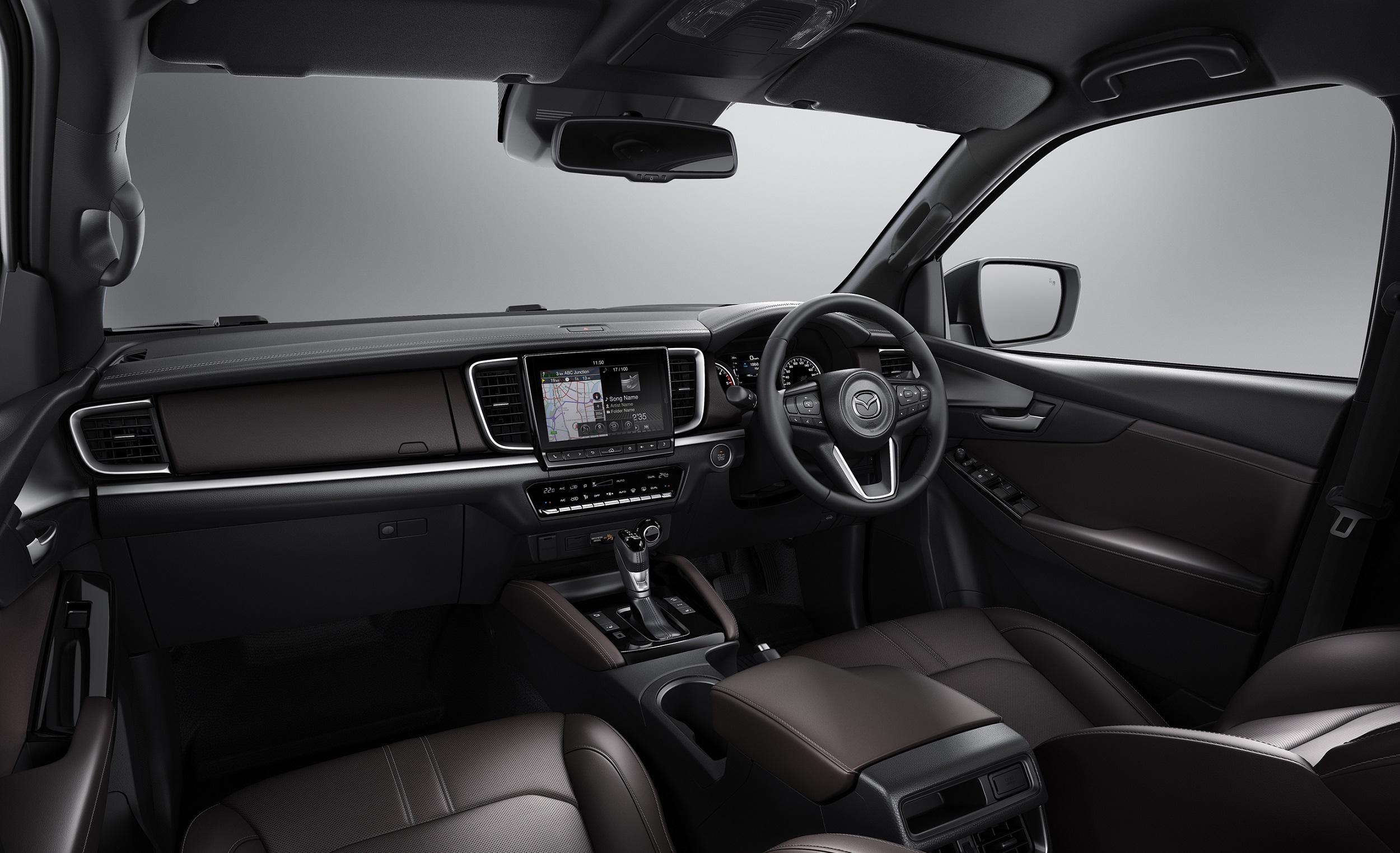 Mazda BT-50 truck interior