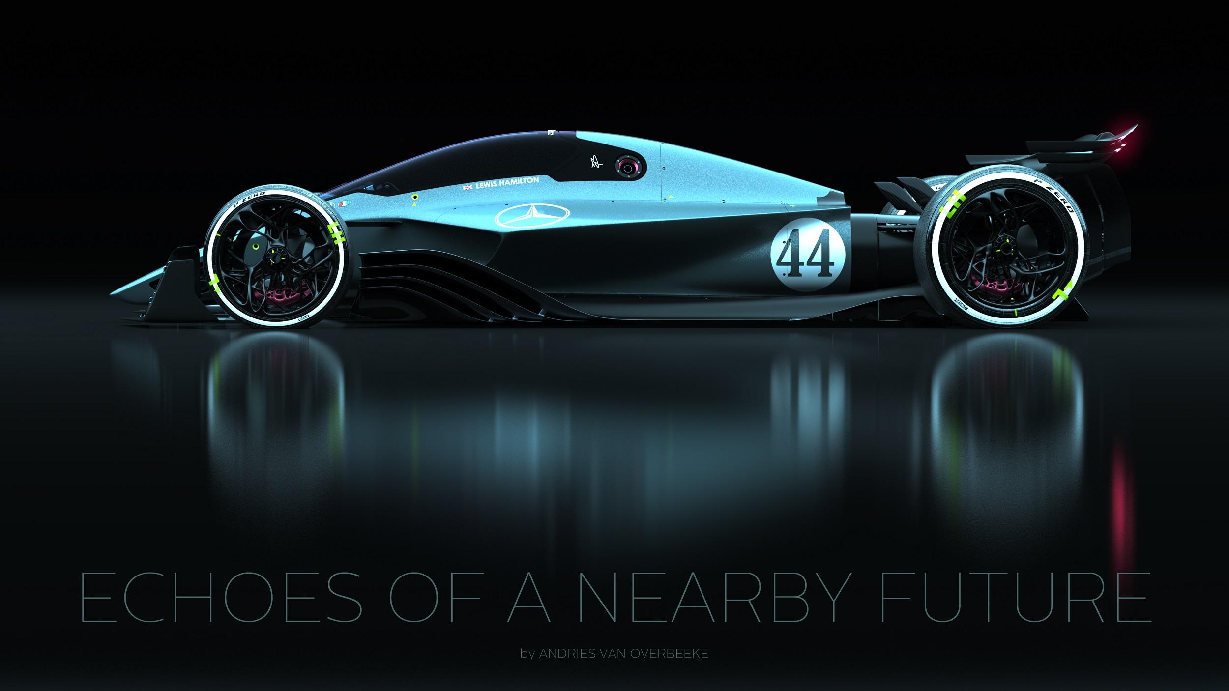 Mercedes-AMG Petronas F1 Rendering | Source: Andries van Overbeeke