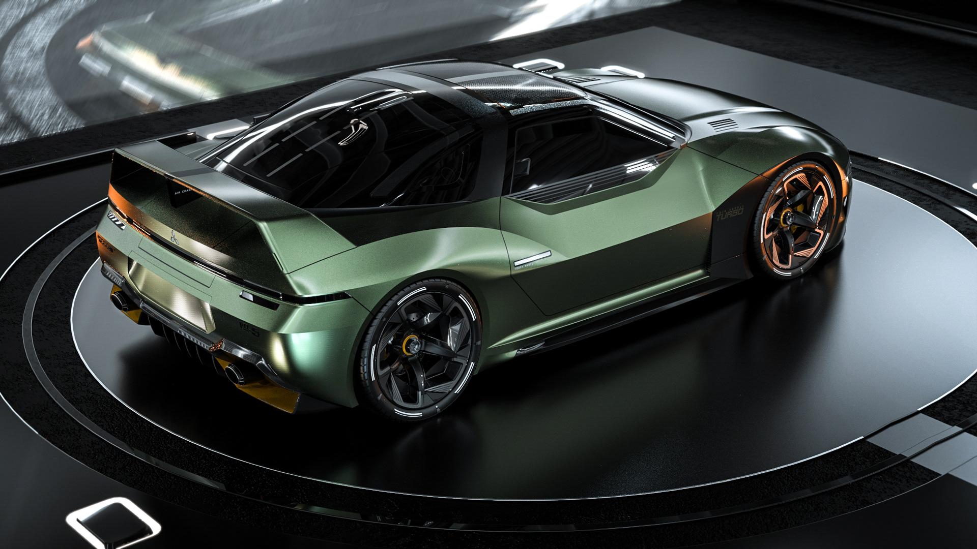 Mitsubishi 4000GT rendering