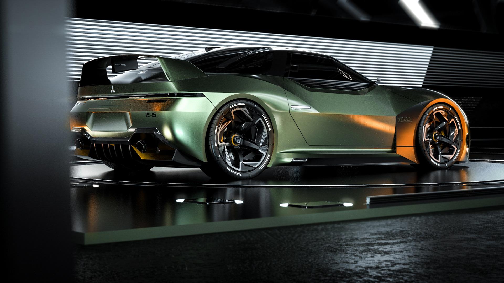 Mitsubishi 4000 GT Rendering | Source: Matthew Parsons