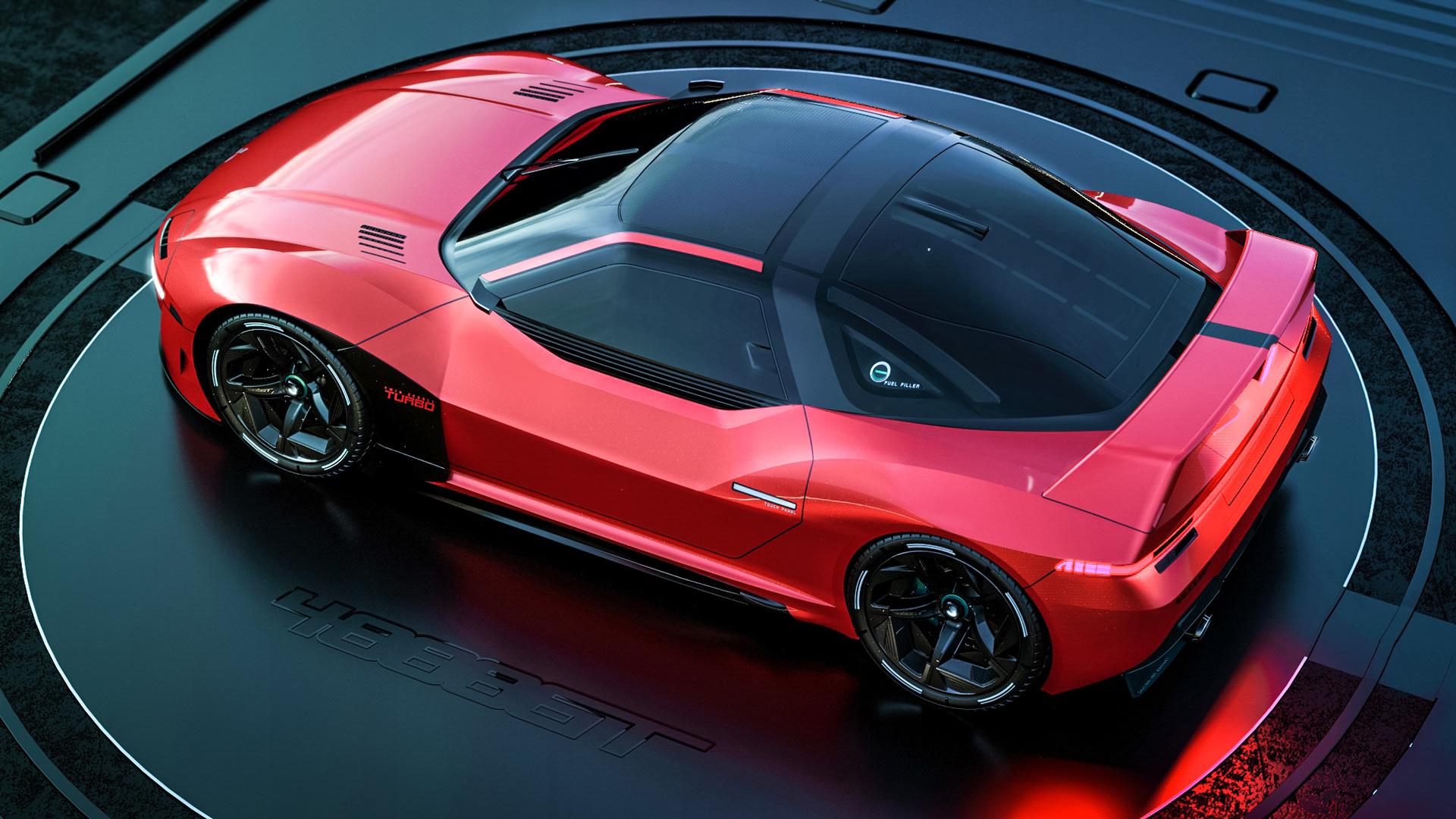 Mitsubishi 4000 GT Rendering