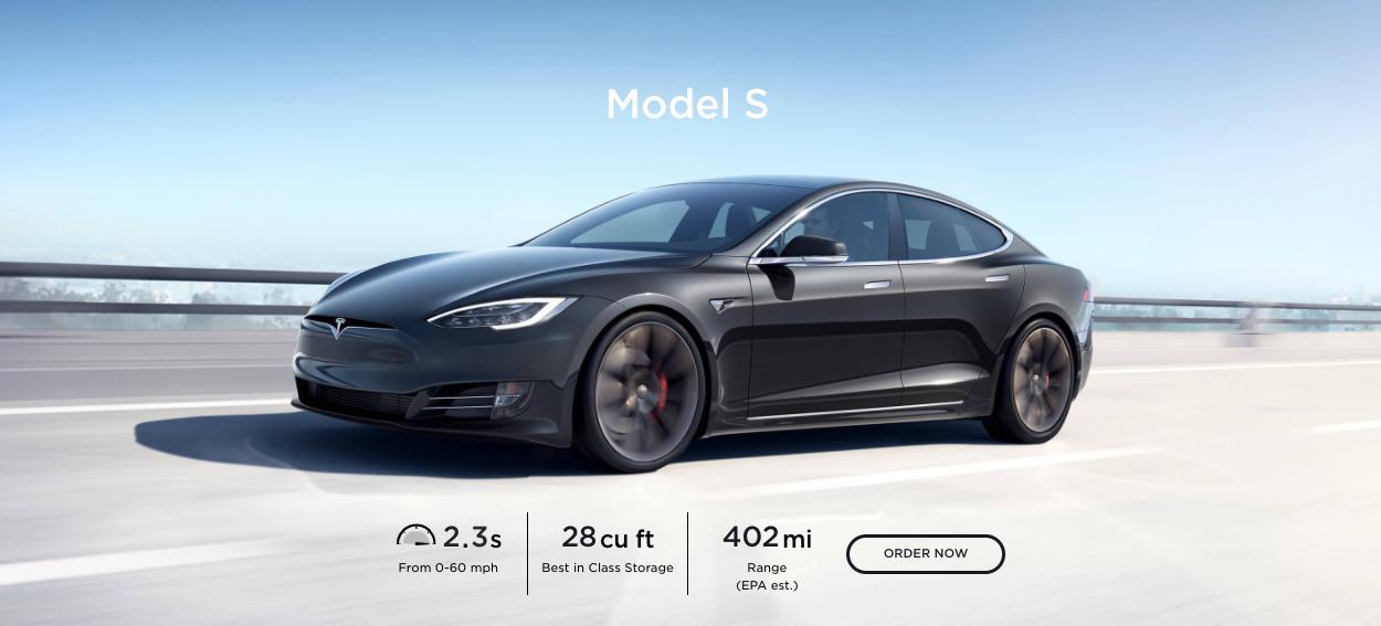 2020 Tesla Model S range