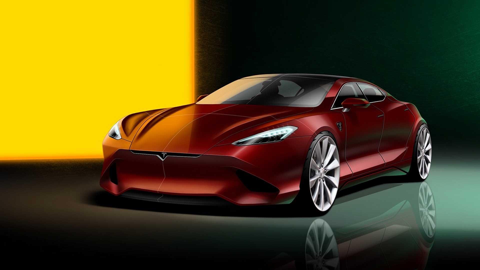 Tesla Model S new generation rendering