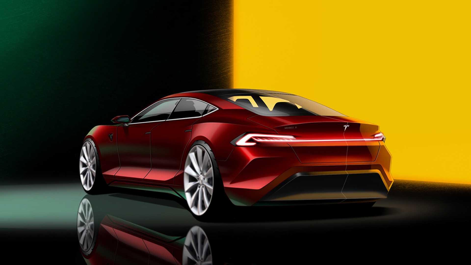 Tesla Model S rendering