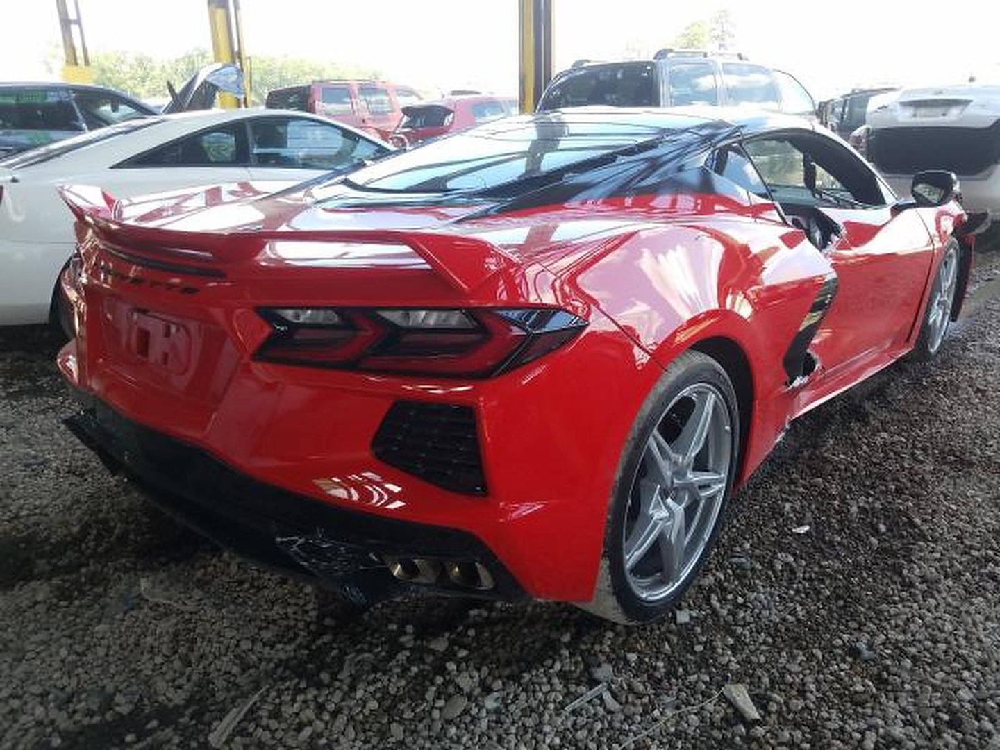 2020 Chevy Corvette dropped from lift
