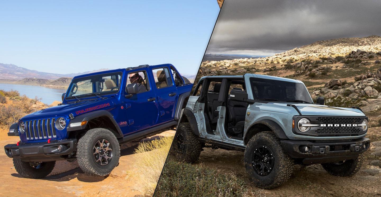 2021 Ford Bronco Vs 2020 Jeep Wrangler Spec Comparison Motor Illustrated