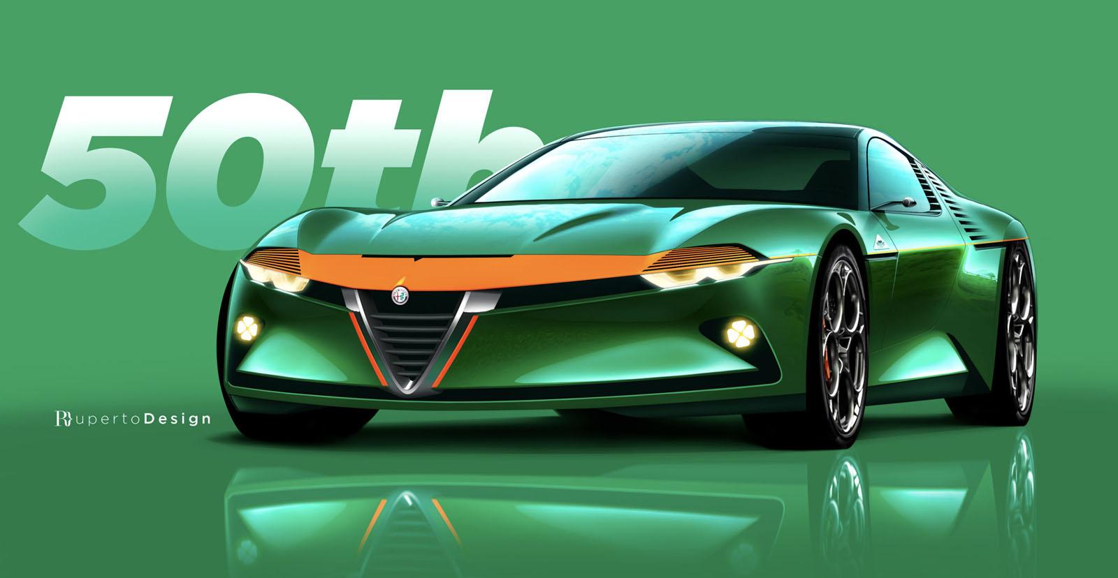 Alfa Romeo Montreal Rendering