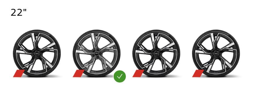 2021 Audi RS 6 Avant wheel options in Canada