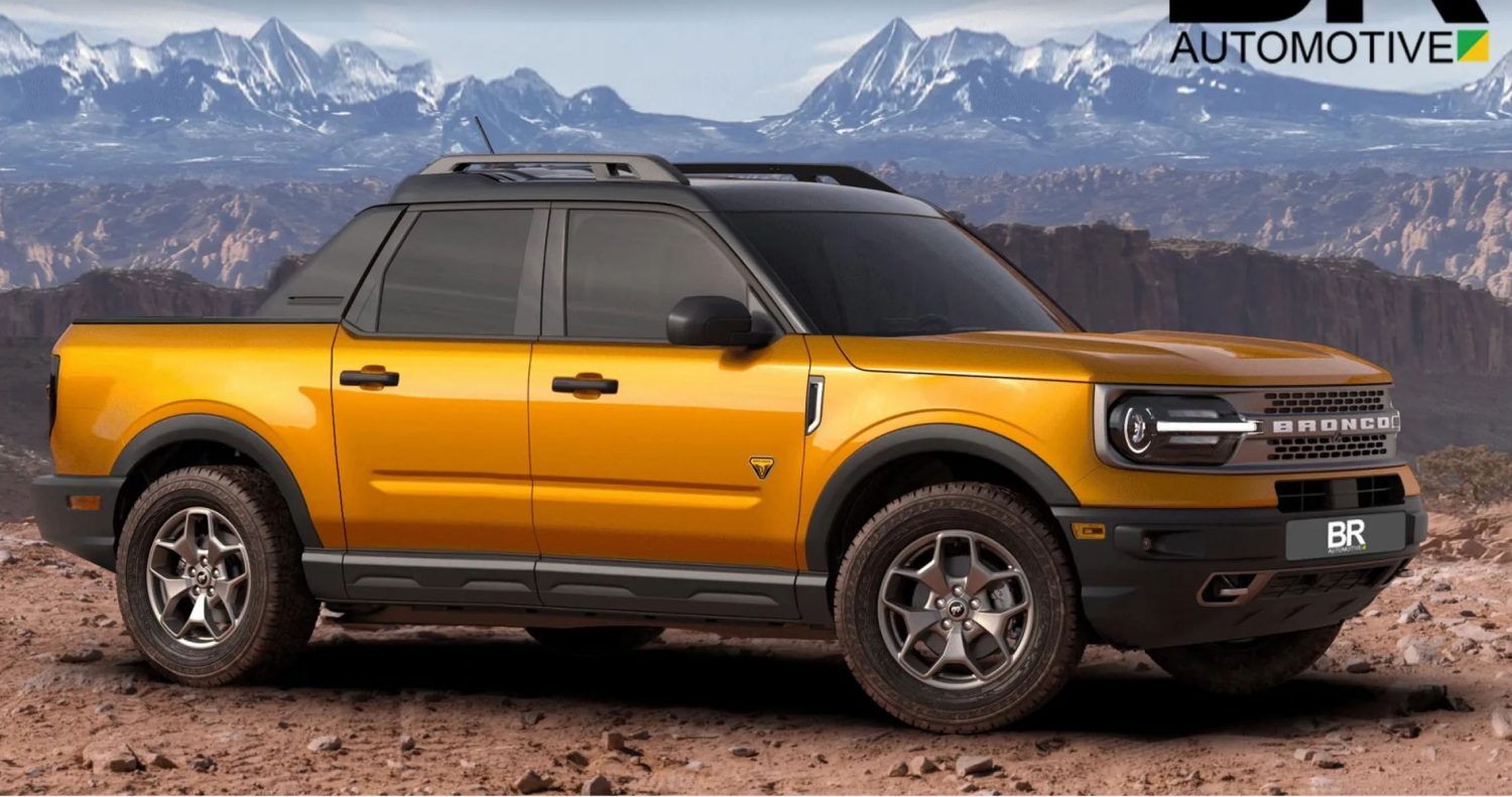 ford maverick pickup rendering takes cues from bronco