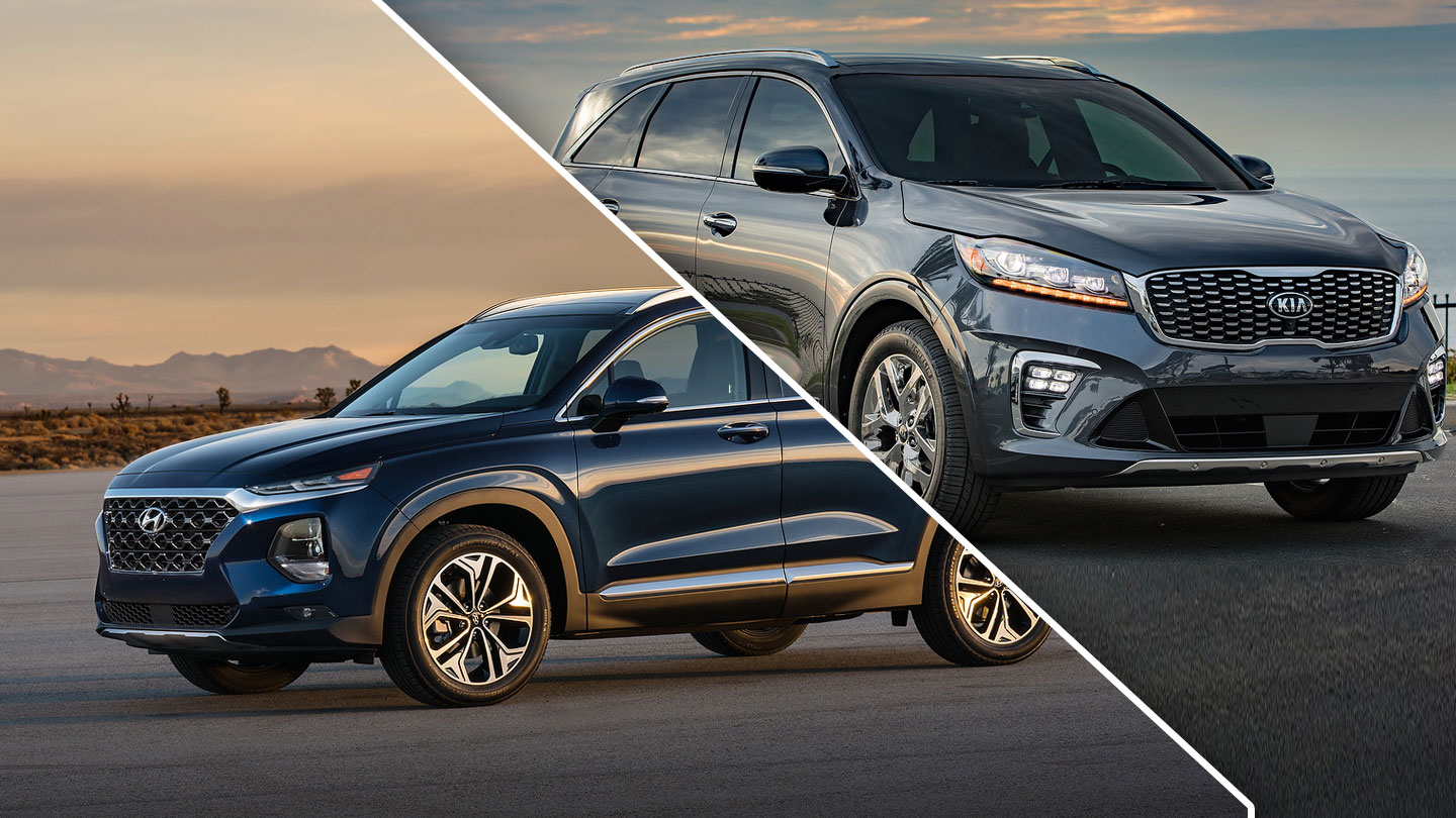 2019 Kia Sorento Vs 2019 Hyundai Santa Fe Quick Comparison