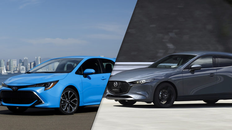 2019 Mazda3 Sport vs 2019 Toyota Corolla Hatchback