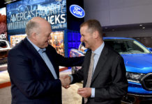 Jim Hackett (Ford) and Herbert Diess (Volkswagen)
