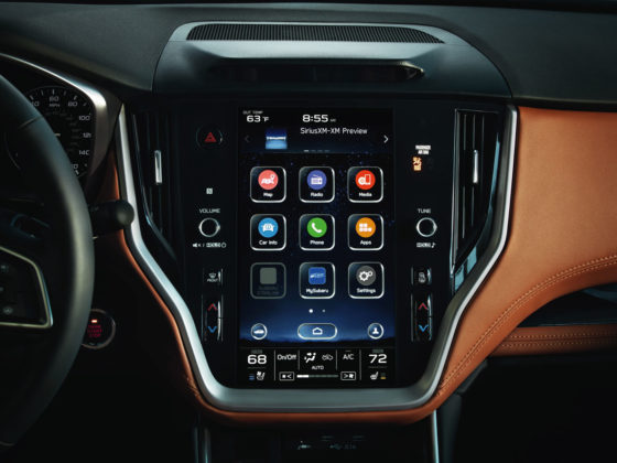 2020 Subaru Legacy centre touch screen