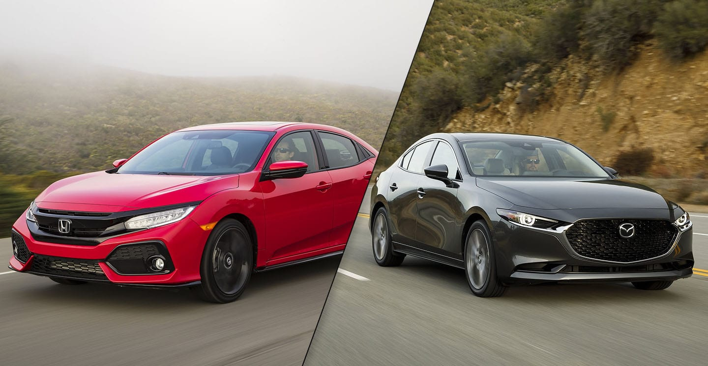 2019 Mazda3 vs 2019 Honda Civic