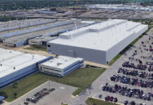 The rendering is of the new Mack Avenue Assembly Complex once FCA invests $1.6 billion to convert the two plants into the future assembly site for the next-generation Jeep® Grand Cherokee, as well as an all-new three-row full-size Jeep SUV and plug-in hybrid (PHEV) models, adding 3,850 new jobs to support production.