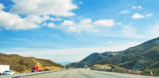 Traffic in Interstate 5, California