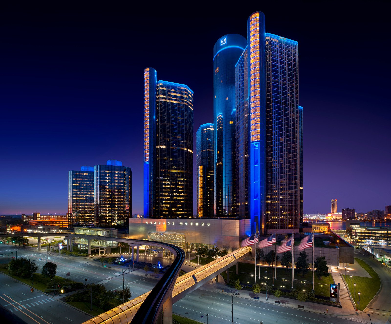 In 1996 General Motors acquired the Renaissance Center to house
